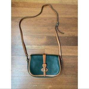 Vintage Dooney & Bourke green leather crossbody